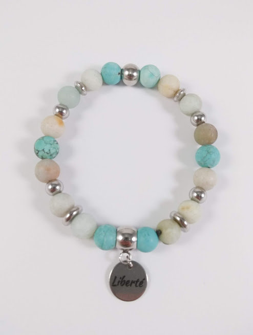 Bracelet #41 Turquoise et Amazonite