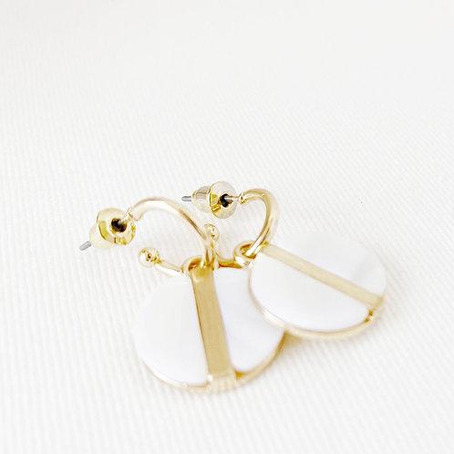 Boucles d'oreille Caracol, Nacre de perle, Or, 2407-WTE-G