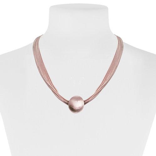 Collier Caracol, Multi-chaîne et boule métallique, Or rose, 1357-RGD