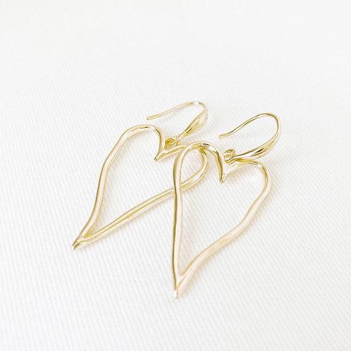 Boucles d'oreille Caracol, Coeur, Or lustré, 2342-GLD