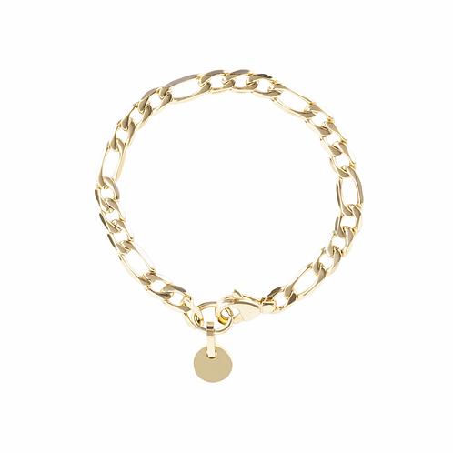 Bracelet Mia charm, Acier inoxydable, Or
