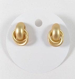 Boucles d'oreille Spounik: Anneaux entrecroisées, Or mat