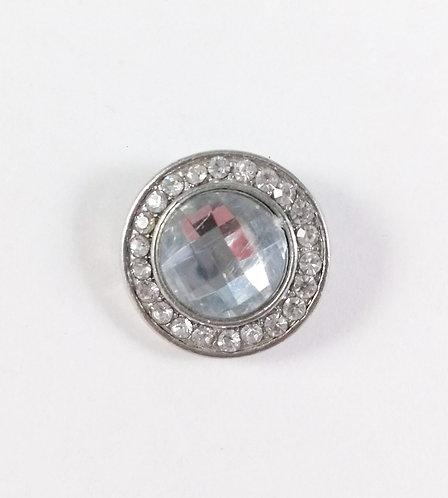 Bouton pression (snap) Nomaad Interchangeable, Cristal clair, contour cristal
