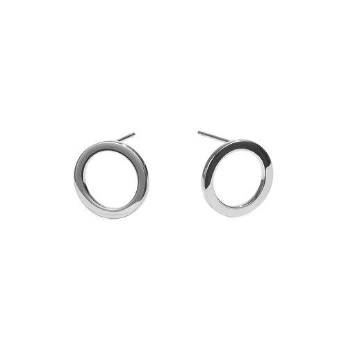 Boucles d'oreilles Halo, Acier inoxydable, Argenté