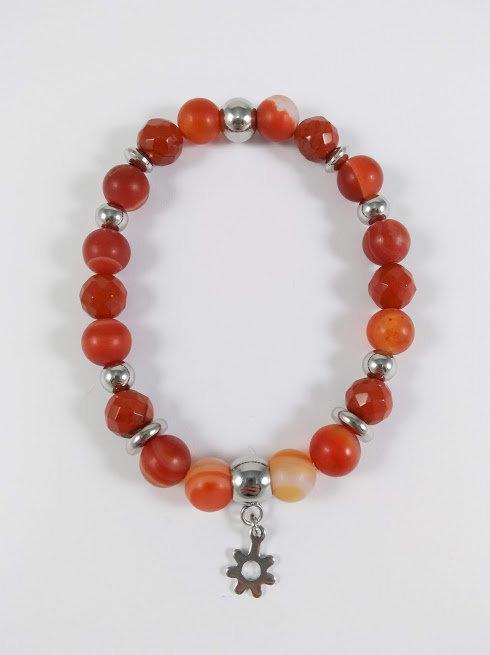 Bracelet #24 Agate rouge et jaspe brun
