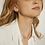 Thumbnail: Boucles d'oreilles Mia, triangle pierres, Acier inoxydable, Argenté