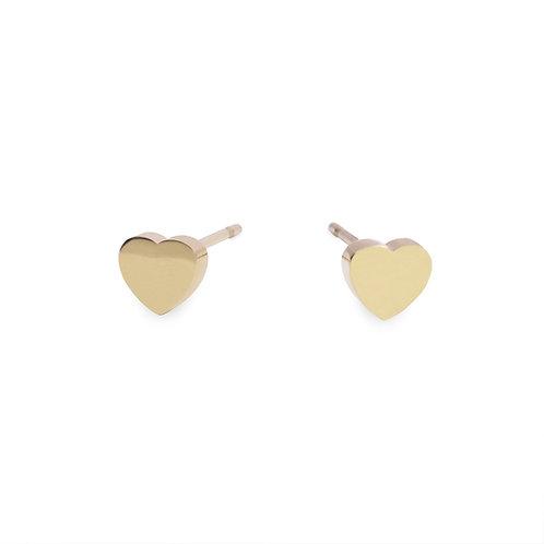 Boucles d'oreilles Mia, MOP rond, Acier inoxydable, Or