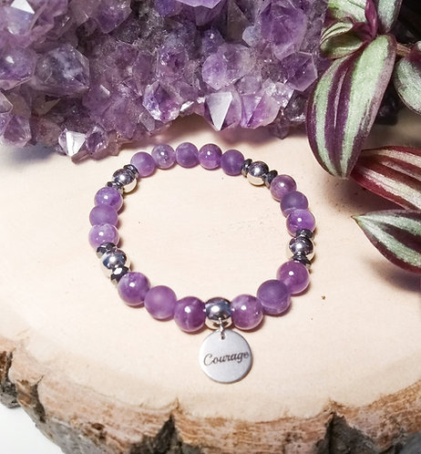 "Bracelet Améthyste ""Courage"""