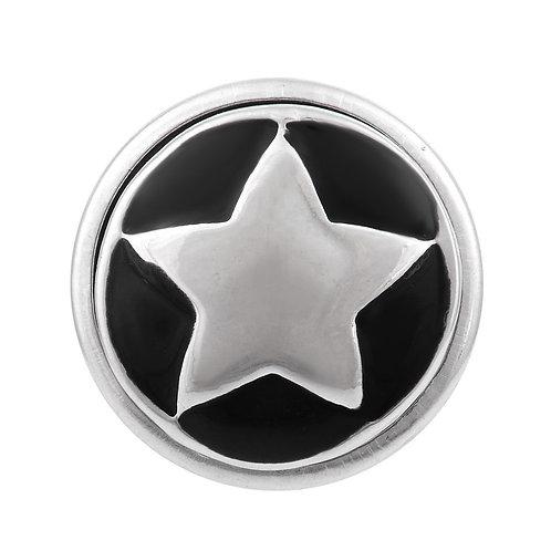 Bouton pression (snap) Nomaad Interchangeable, Étoile argent fond noir