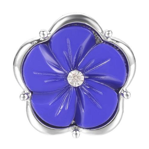 Bouton pression (snap) Nomaad Interchangeable, Fleur nacre violet