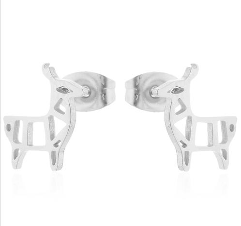 Boucles d'oreille acier inoxydable ''Lama''
