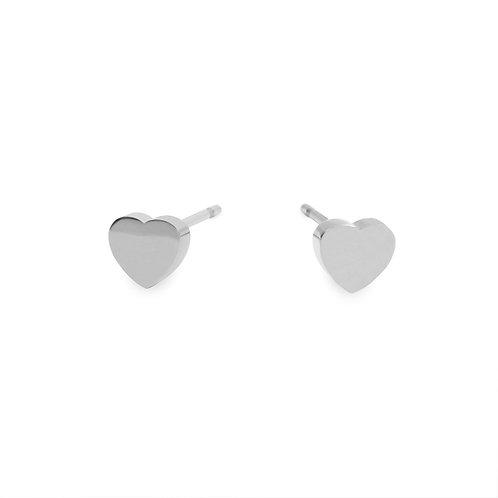 Boucles d'oreilles Mia, MOP rond, Acier inoxydable, Argent