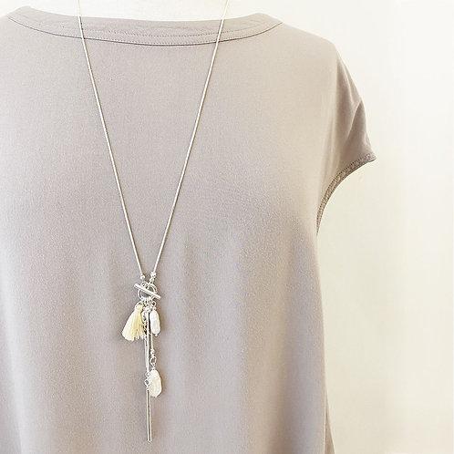 Collier long Caracol Perle d'eau douce, Argent, 1395-SLV