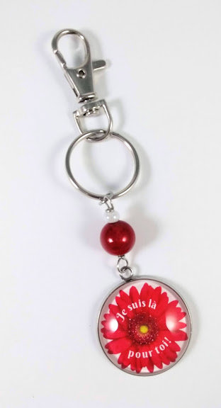Porte-clés ''Je suis là pour toi'' (#9)