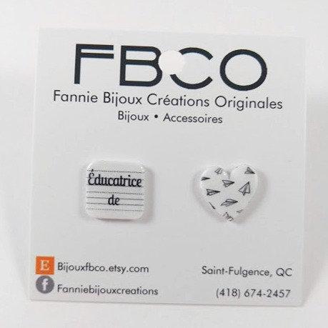 Boucles d'oreille FBCO ''éducatrice''
