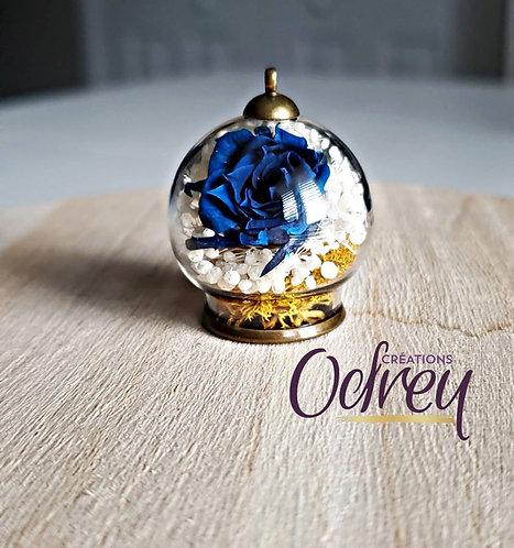 Collier Créations Odrey ''Fleur bleue''