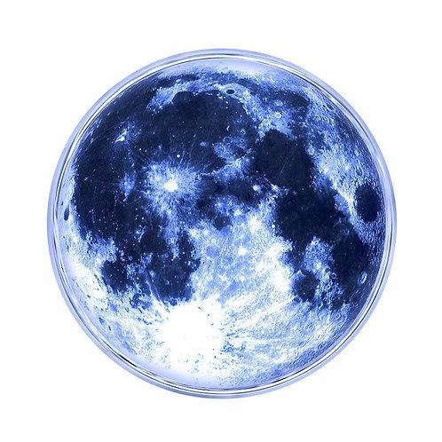 Bouton pression (snap) Nomaad Interchangeable, Lune bleuté (allume dans le noir)