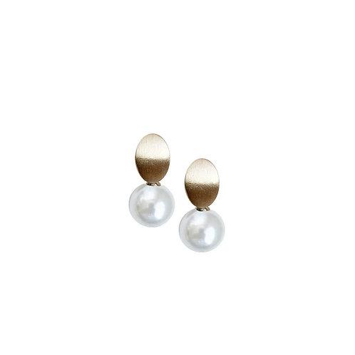 Boucles d'oreille Caracol, Perle blanche, Or, 2411-WTE-G