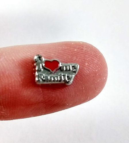 Figurine pour collier famille: ''I love my family'' (J'aime ma famille)