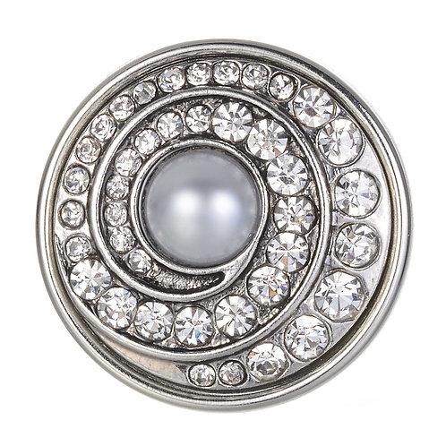 Bouton pression (snap) Nomaad Interchangeable, Perle avec tourbillon de cristaux