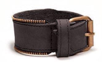 Bracelet large pour homme avec zipper, Noir