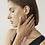 Thumbnail: Boucles d'oreilles Mia, Anneaux 3 rangées, Acier inoxydable, Or rose