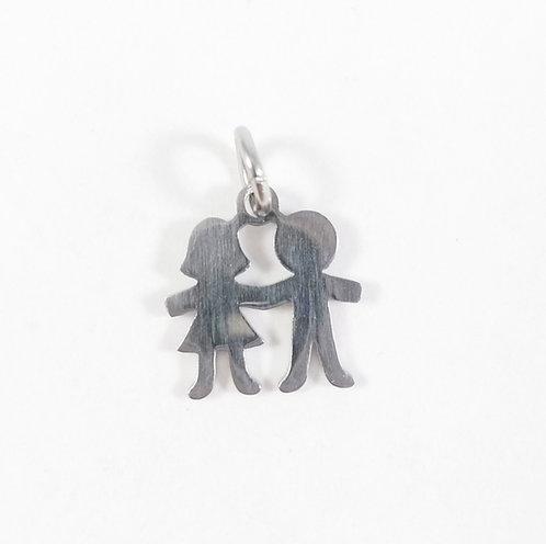 Breloque: Couple pour Chaîne, bracelet ou porte-clés famille Olfée