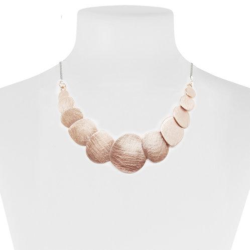 Collier Caracol, Pastilles métalliques, Or rose, 1436-RGD