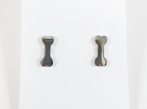 Boucles d'oreille acier inoxydable ''Os''