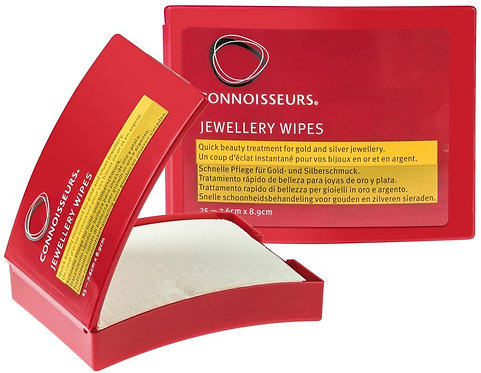 Boîtes de 25 lingettes pour nettoyer et polir les bijoux (Connoisseurs jewelry)