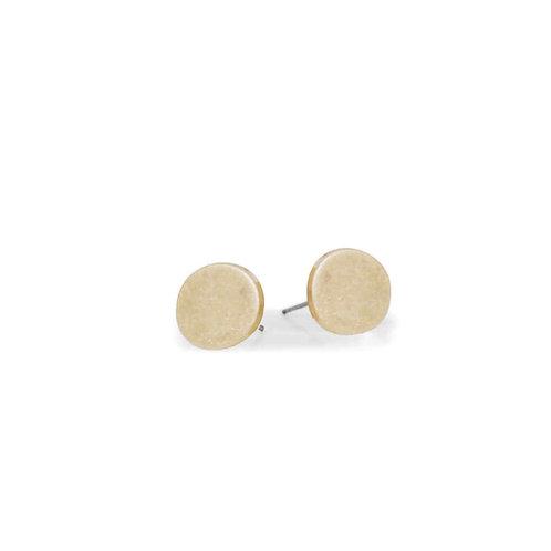Boucles d'oreille Caracol, Petit bouton fini usé, Or, 2362-GLD