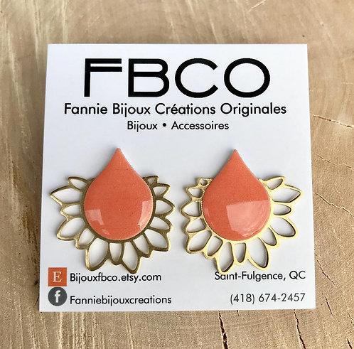 Boucles d'oreille FBCO ''Élysée''Corail