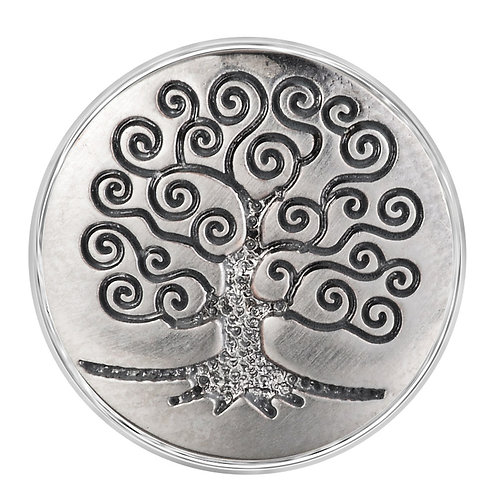 Bouton pression (snap) Nomaad Interchangeable, Arbre argent