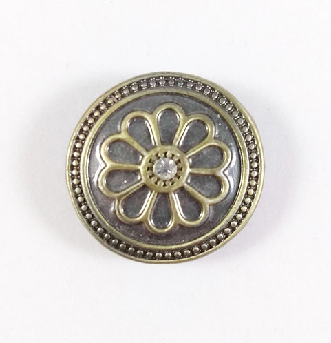Bouton pression (snap) Nomaad Interchangeable, Fleur laiton antique