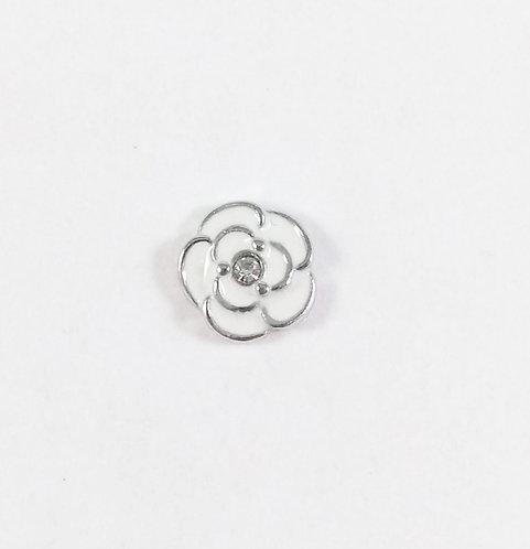 Figurine pour collier famille: Fleur blanche