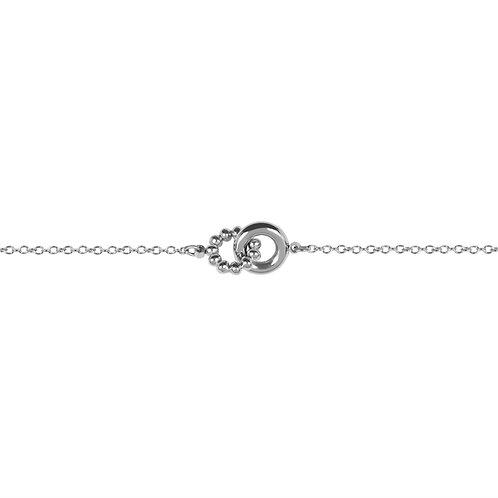 Bracelet Mia à billes Duet, Acier inoxydable, Argenté