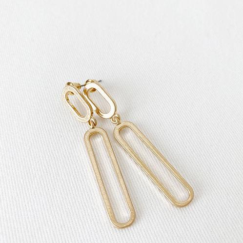 Boucles d'oreille Caracol, Ovale, Métal, Or usé, 2414-GLD