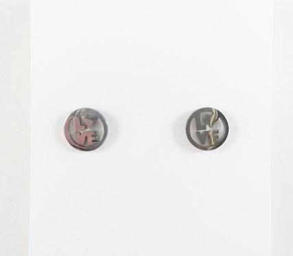 Boucles d'oreille acier inoxydable ''Cercle Love''