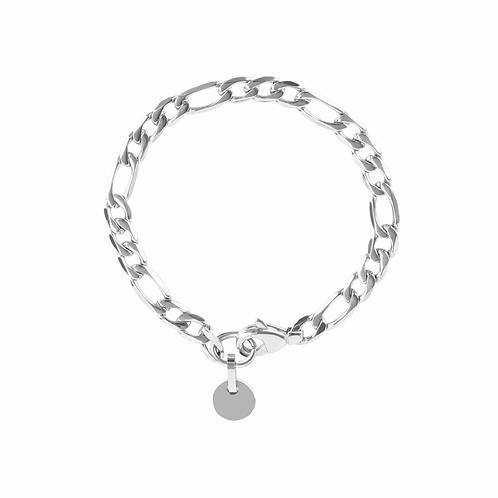 Bracelet Mia charm, Acier inoxydable, Argent