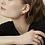 Thumbnail: Boucles d'oreilles Mia, Croissant de lune, Acier inoxydable, Or