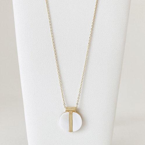 Collier court Caracol, Nacre de perle, Or, 1407-WTE-G