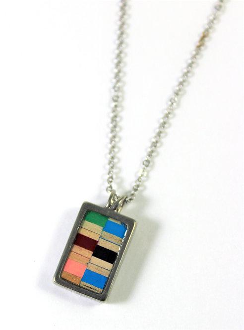 Médaillon LOB-crayons recyclés ( Multicolore #7)