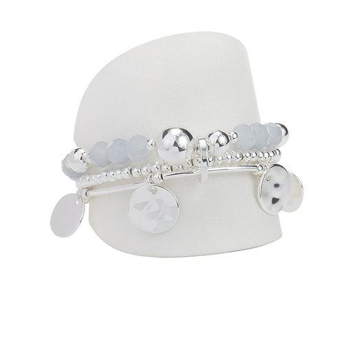 Bracelet élastique Caracol, Gris, 3162-GRY