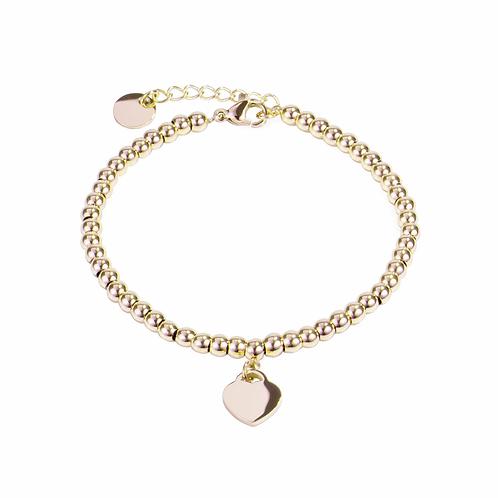 Bracelet Mia, 'Love goals', Acier inoxydable, Or