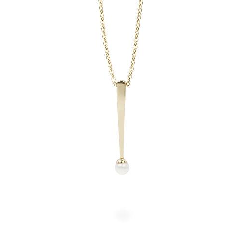 Pendentif Mia perle, Acier inoxydable, Or
