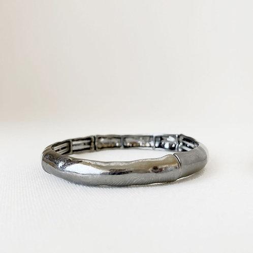 Bracelet élastique Caracol, Martellé, Hématite, 3163-HEM