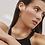 Thumbnail: Boucles d'oreilles Mia, Anneaux très larges et minces, Acier inoxydable, Argent