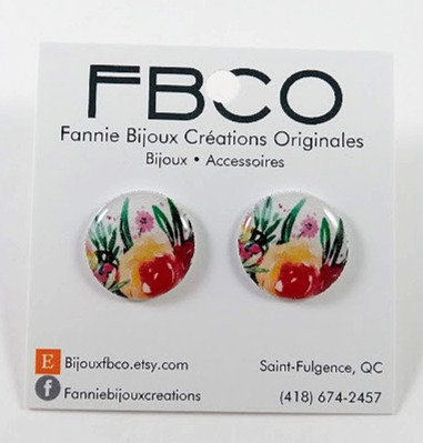 Boucles d'oreille FBCO Fleur