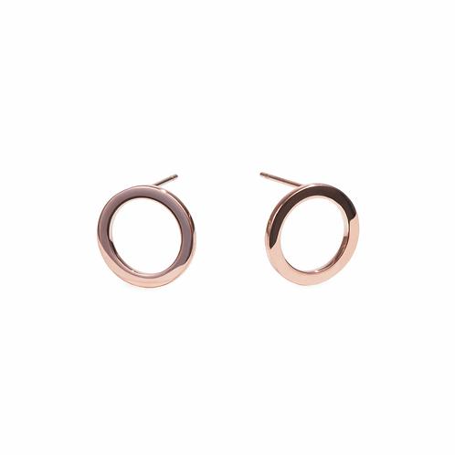 Boucles d'oreilles Halo, Acier inoxydable, Or rose