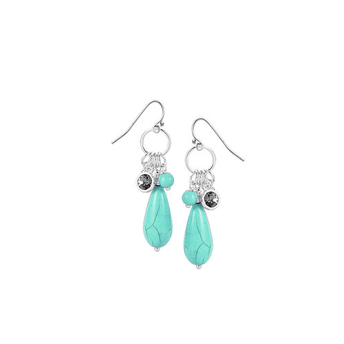Boucles d'oreille Caracol turquoise